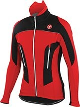 CASTELLI Mortirolo Due Jacket Red Black