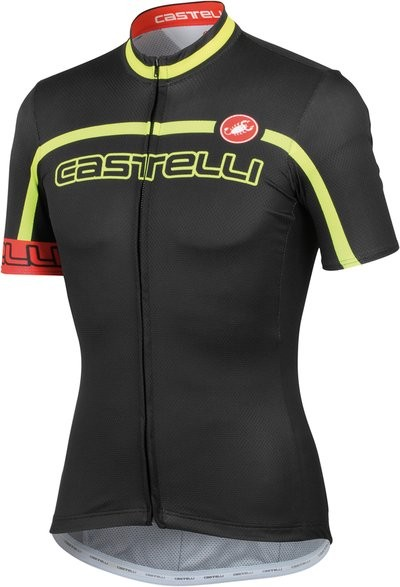 CASTELLI Velocissimo Team Jersey SS FZ Black