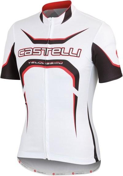 CASTELLI Velocissimo Tour Jersey SS White Black Red
