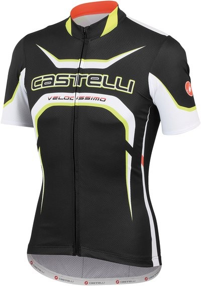 CASTELLI Velocissimo Tour Jersey SS Black White Fluo