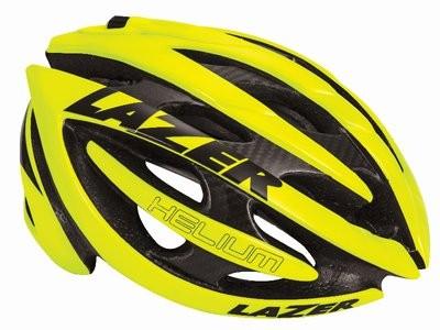 LAZER Helm Helium Flash Yellow + Aeroshell