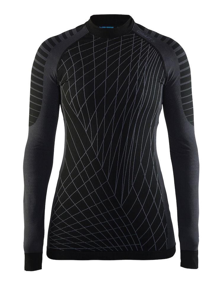 Craft active intensity CN sous-vêtement manches longues femme noir gris