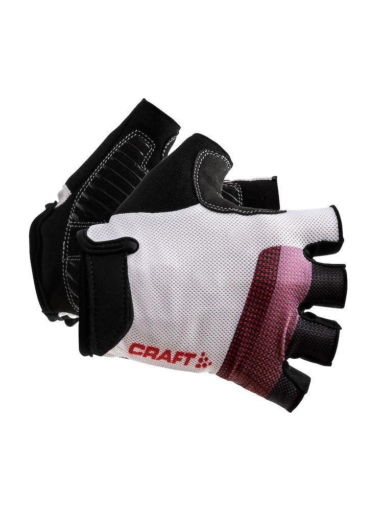 Craft go gant de cyclisme blanc rouge