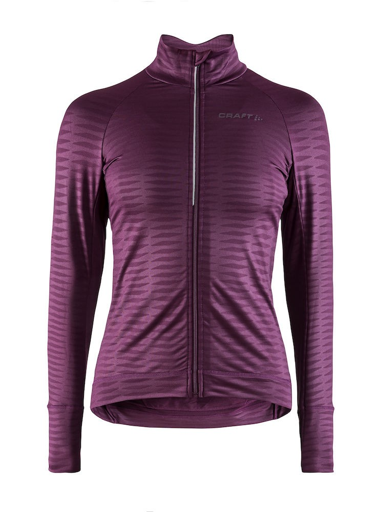 Craft velo thermal 2.0 maillot de cyclisme femme manches longues tune lila