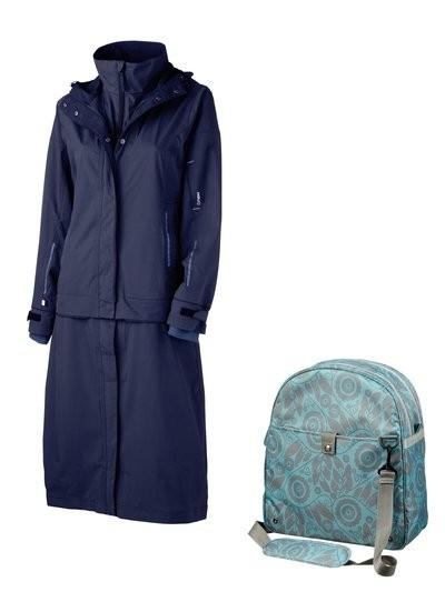 AGU Masaki Rain Jacket Navy Blue With Free Cordo Bike Bag