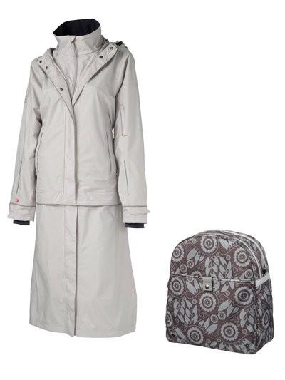 AGU Masaki Rain Jacket Castle Grey With Free Cordo Bike Bag