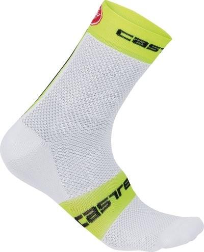 CASTELLI Free 9 Sock White Yellow Fluo
