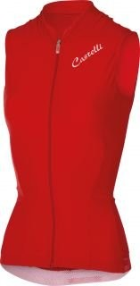 CASTELLI Bellissima Cristallo Lady Jersey Sleeveless Red