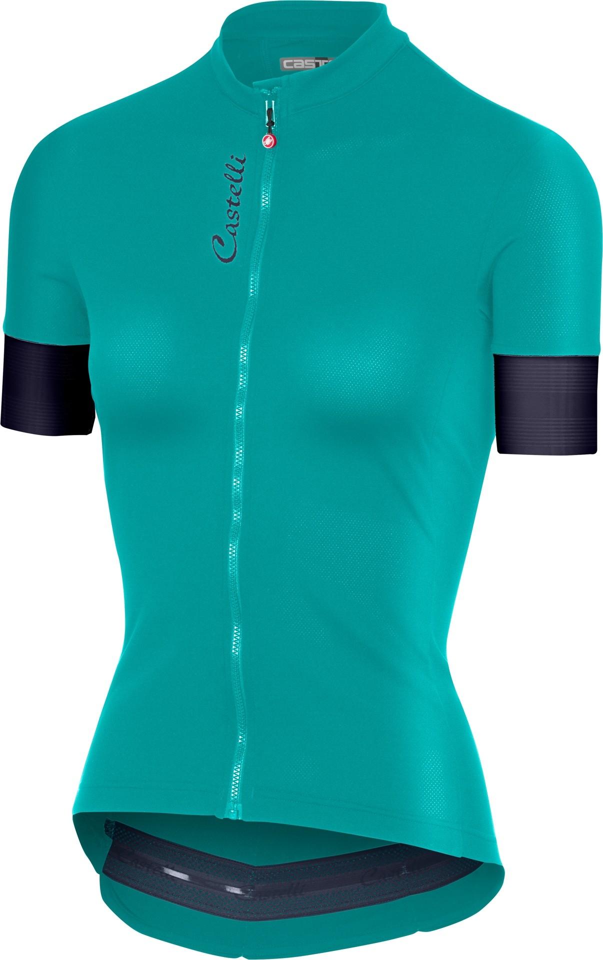Castelli anima 2 maillot de cyclisme manches courtes femme turquoise vert steel blue foncé