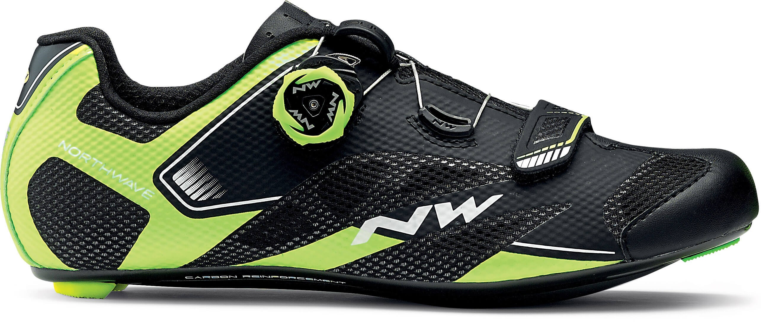 Northwave sonic 2 plus chaussures route noir jaune blanc