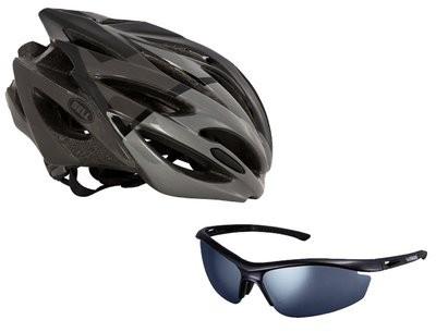BELL Array Helm Black Titanium Met Gratis Shimano Bril