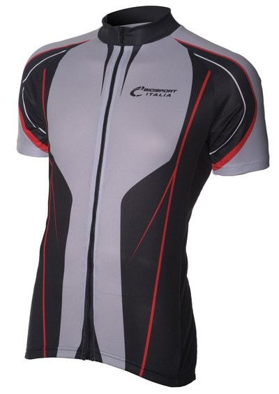 Bici Shirt KM Grey/Black/Red v6