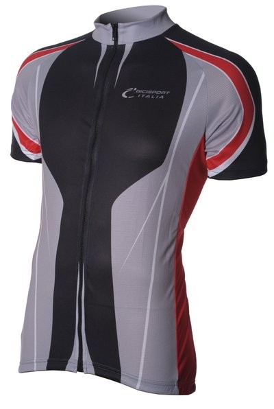 Bici Shirt KM Black/Grey/Red V3a
