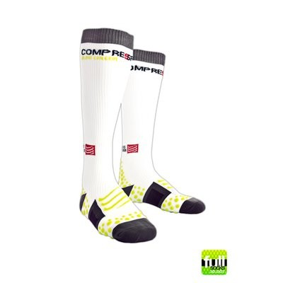 COMPRESSPORT Full Socks White