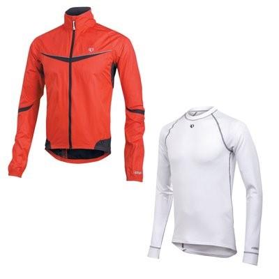 PEARL IZUMI  Elite Barrier Jack Red met Thermal Ondershirt