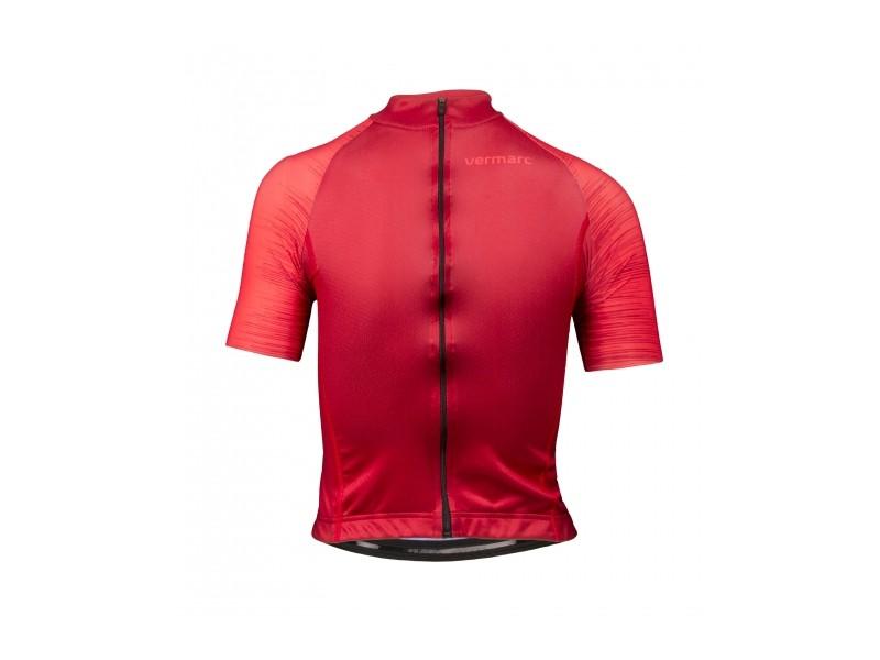 Vermarc seiso sp.l aero maillot de cyclisme manches courtes enfants bordeaux rouge