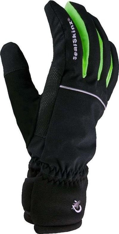 Sealskinz Extra Cold Winter Cycle Glove Black Green (KJ981)