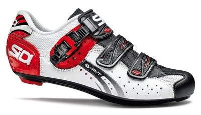 SIDI Genius 5-Fit Carbon White Black Red Race Fietsschoen