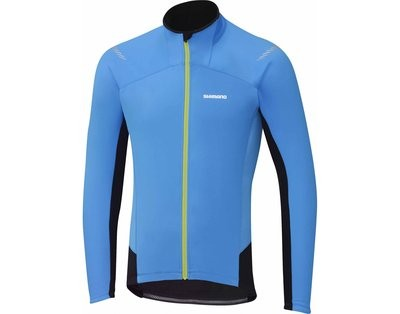 SHIMANO Performance Windbreaker Jersey LS Lightning Blue Black
