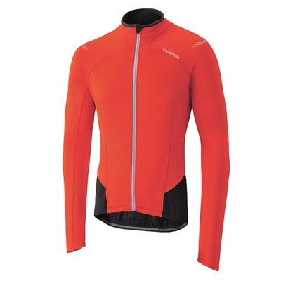 SHIMANO Performance Windbreaker Jersey LS Red Black