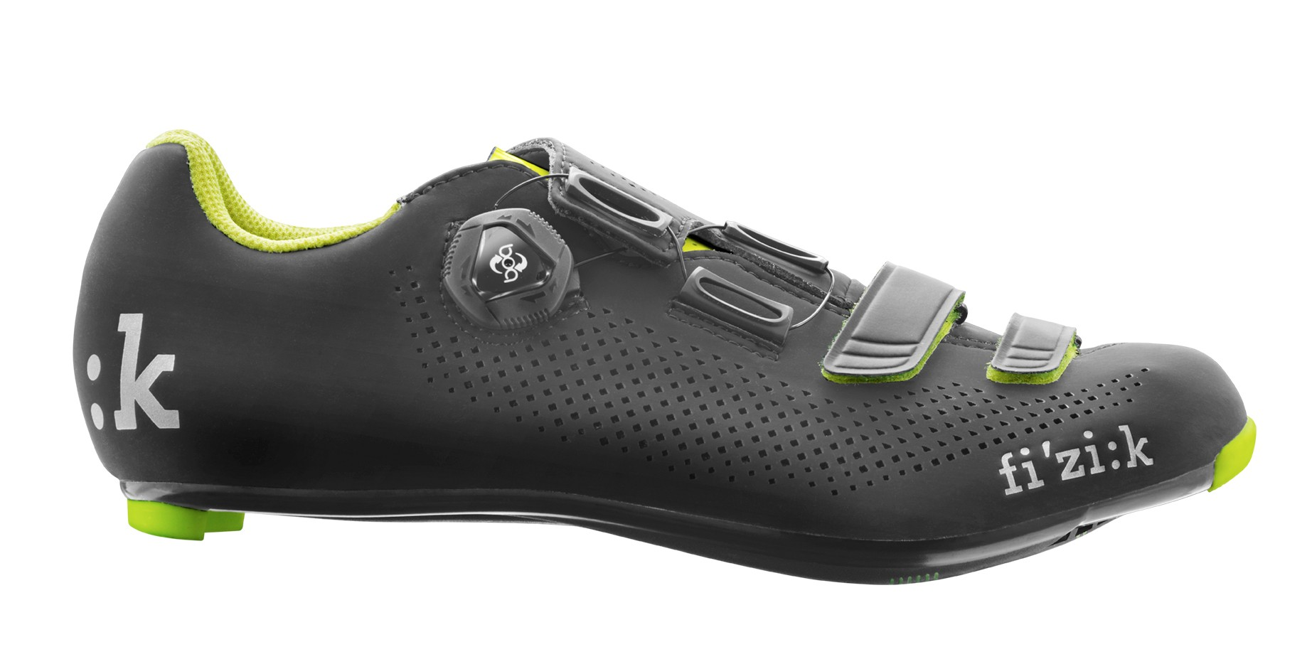 FIZIK R4 Boa Race Fietsschoen Black Yellow Fluo