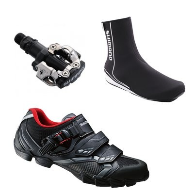 SHIMANO M088 MTB Shoe With PDM520 Pedal and Shoe Cover