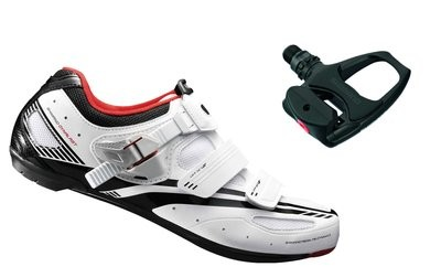 SHIMANO R107 Road Shoe White With PDR 540 Pedal