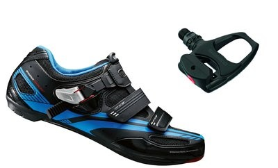 SHIMANO R107 Road Shoe Black With PDR 540 Pedal