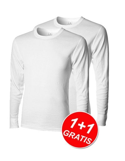 Shirt Essentials LM White 1+1 Gratis