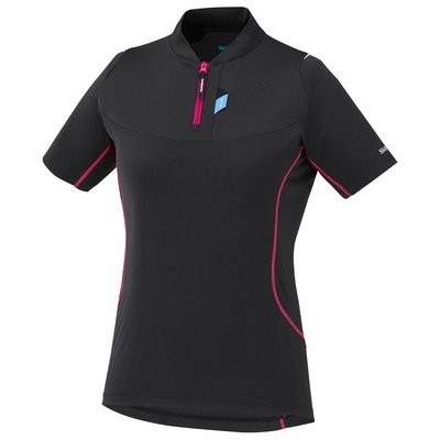 SHIMANO Touring Lady Jersey SS Black Jazzberry