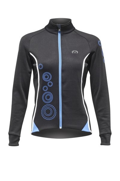 ULTIMA Shirt Lm Lady POWER 2 Zwart Blauw Wit