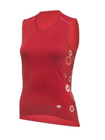 ULTIMA Shirt Zm Lady ENERGY 4 Rood Wit Zwart