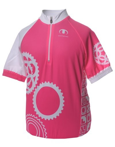 ULTIMA Shirt Km Kids FOCUS Print Roze Wit