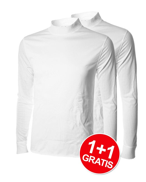 Shirt Windbreaker Essentials LM White 1+1 Gratis