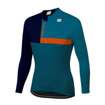 Sportful Bold Thermal Jersey - Blue Orange Sdr
