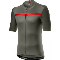Castelli Unlimited Jersey - Forest Gray/Red