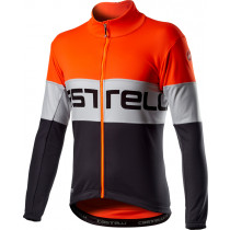 Castelli Prologo Jacket - Orange Silver Gray