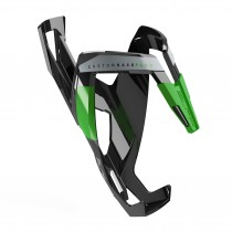 Elite bidonhouder custom race plus glossy zwart - groen logo