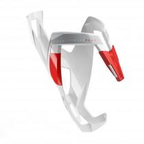 Elite bidonhouder custom race plus glossy wit - rood logo