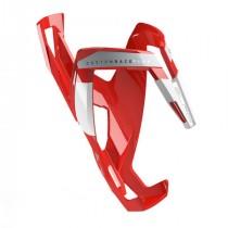 Elite bidonhouder custom race plus glossy rood - wit logo