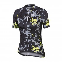 SPORTFUL Game Kids Jersey SS Black Anthra Yellow Fluo