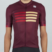 Sportful Wire Jersey - Red Wine Red Rumba Gold