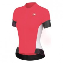CASTELLI Fortuna Lady Jersey SS Coral White