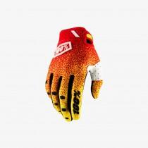 100% ridefit gant de cyclisme rouge jaune