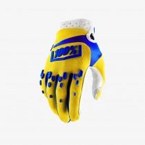 100% airmatic gant de cyclisme jaune