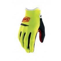 100% Ridecamp Glove Neon Yellow