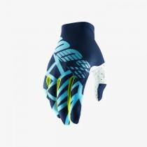 100% celium 2 mtb gants de cyclisme bleu fluo lime