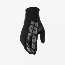 100% hydromatic mtb gants de cyclisme imperméable noir