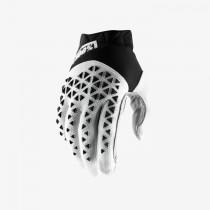 100% airmatic mtb gants de cyclisme noir blanc argent