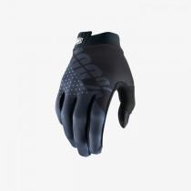 100% itrack mtb gants de cyclisme noir charcoal